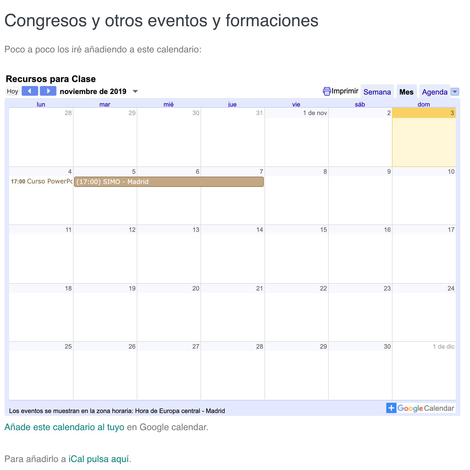 calendario educación