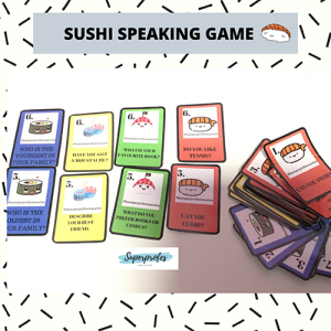 Tag Sushi Speaking Game